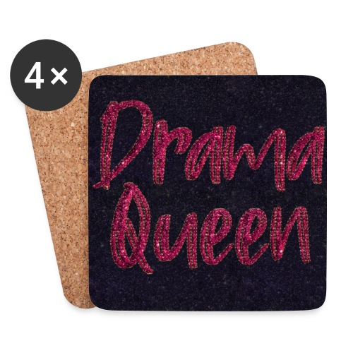 Dramaqueen facemask monkapje Gesichtsmaske Pink - Coasters (set of 4)