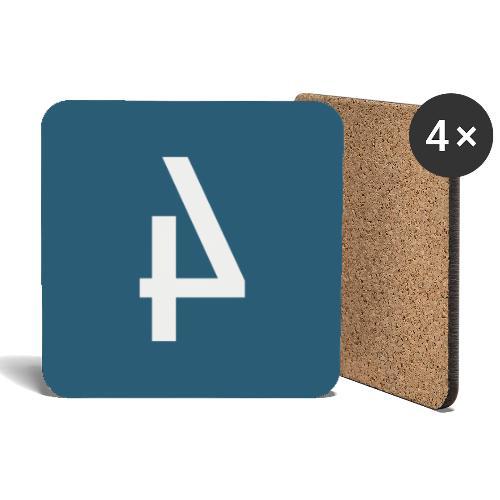 Het Spoor 4 logo klein - Onderzetters (4 stuks)