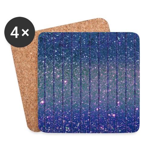 Burlesque Glitzer Glitter Feenstaub Blau - Coasters (set of 4)