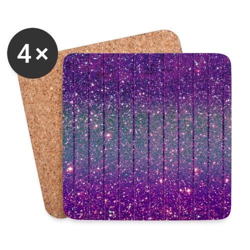 Glitzer Muster Lila Burlesque Glitter - Coasters (set of 4)