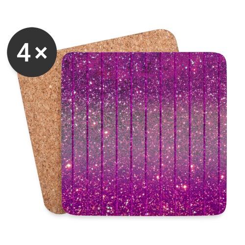 Pink Glitzer funkelnd Rosa Glitter Feenstaub chic - Coasters (set of 4)