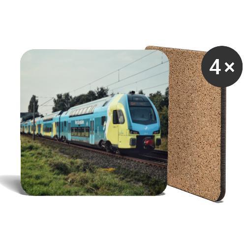 Regionale trein in Duitsland - Onderzetters (4 stuks)