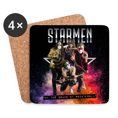 Starmen - By the Grace of Rock 'n' Roll - Coasters (set of 4)