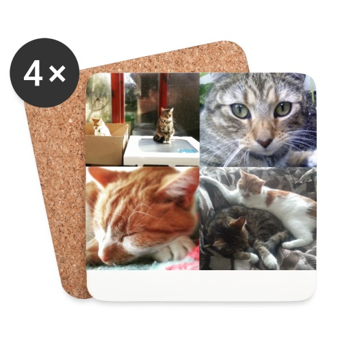Button and Taco - Coasters (set of 4)