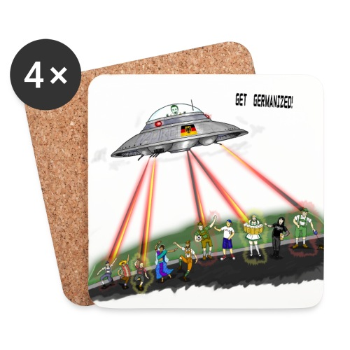 UFO Germanizer Ray - Coasters (set of 4)