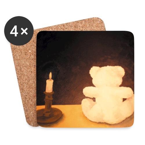 Der Bär und die Unendlichkeit - Tasse - Untersetzer (4er-Set)