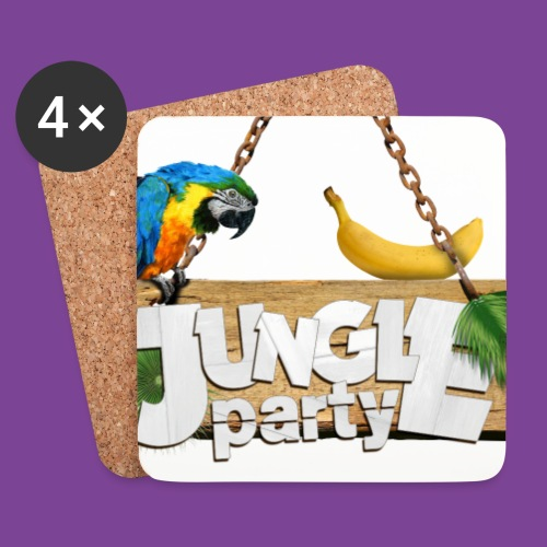 logo Jungle Party png - Dessous de verre (lot de 4)