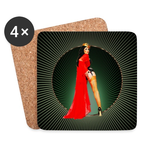 Pinup your Life - Xarah as Pinupart - Queen - Coasters (set of 4)