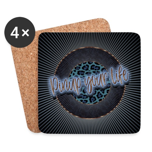 Pinup your Life - Leopard Blau - Coasters (set of 4)