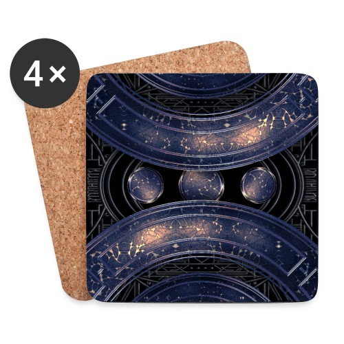 Universe outer space blue outer space galaxy art - Coasters (set of 4)