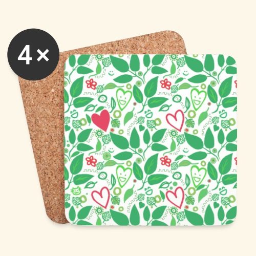 Pattern - Nature Love - Coasters (set of 4)