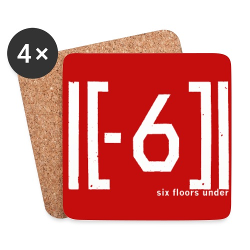 logo6FU 201510 red badge png - Coasters (set of 4)