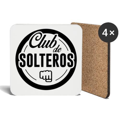 Club de Solteros (logo negro) - Posavasos (juego de 4)