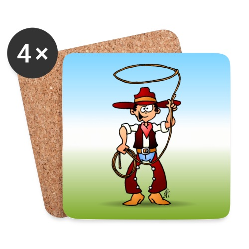 Cowboy with a lasso - Coasters (set of 4)