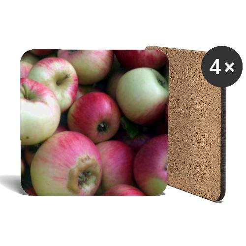 Äpfel - Untersetzer (4er-Set)