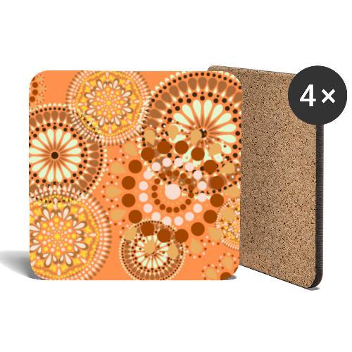 Fleur Hippie orange - Dessous de verre (lot de 4)