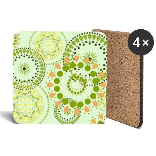 Fleur Hippie vert clair - Dessous de verre (lot de 4)