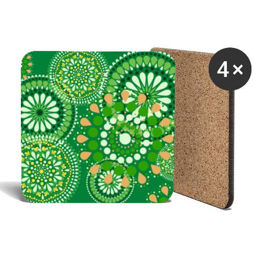 Fleur Hippie vert - Dessous de verre (lot de 4)