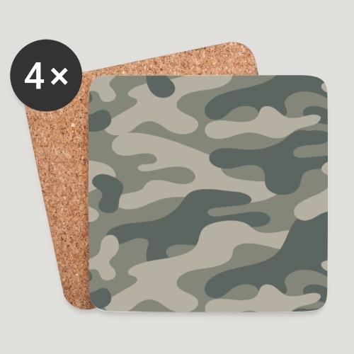 Camouflage Wald Militär Tarnung Maske Mundschutz - Untersetzer (4er-Set)
