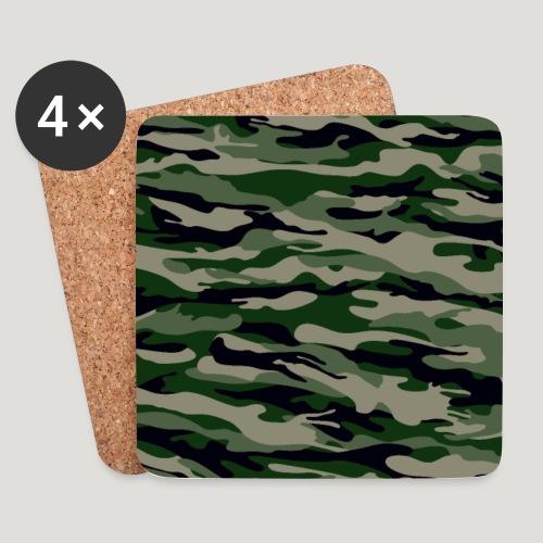 Camouflage Gras Militär Tarnung Maske Mundschutz - Untersetzer (4er-Set)