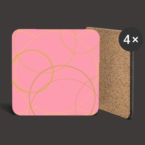 Ornamentik gold rosa, Smartphonehülle - Untersetzer (4er-Set)