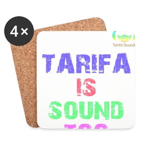 Tarifa tambiés es sonido - Posavasos (juego de 4)