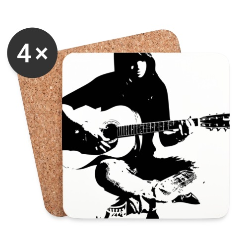 Cynthia Janes guitar BLACK - Coasters (set of 4)
