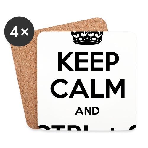 Keep Calm and CTRL+S - Dessous de verre (lot de 4)