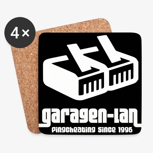Garagenlan2 - Untersetzer (4er-Set)
