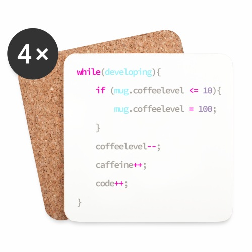 Coffee to Code - Programmer's Mug - Coasters (set of 4)
