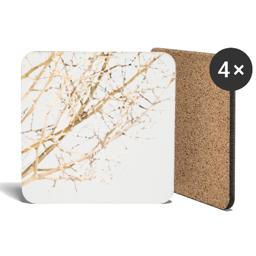 Grass beige minimalism watercolor nature - Coasters (set of 4)