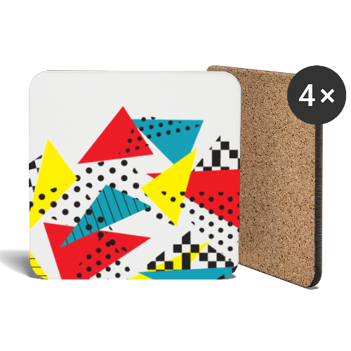 Abstract vintage collage - Coasters (set of 4)