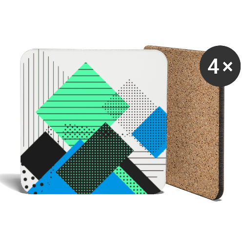 Abstract rectangles pastel - Coasters (set of 4)