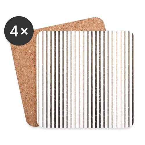 Pinstripe Muster Streifen Muster gestreift weiß - Coasters (set of 4)