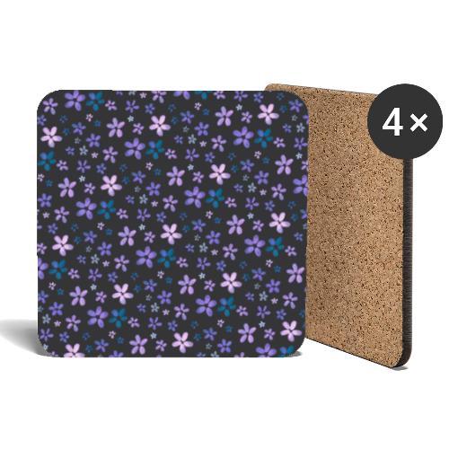 Pattern piccoli fiori ad acquerello - Sottobicchieri (set da 4 pezzi)