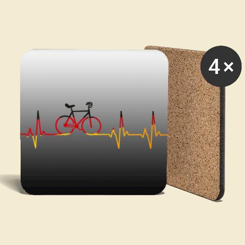 Kunstrad Heart Monitor Maske - Untersetzer (4er-Set)