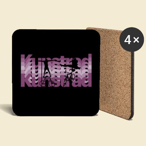 Kunstrad | Typo Art Maske - Untersetzer (4er-Set)
