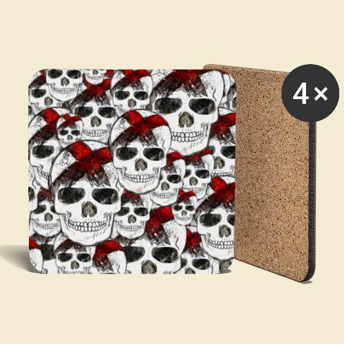 Radball | Skull Maske - Untersetzer (4er-Set)