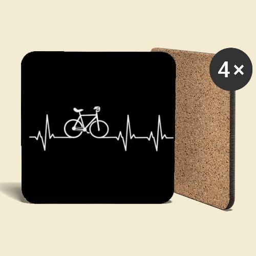 Kunstrad | Heart Monitor Maske - Untersetzer (4er-Set)