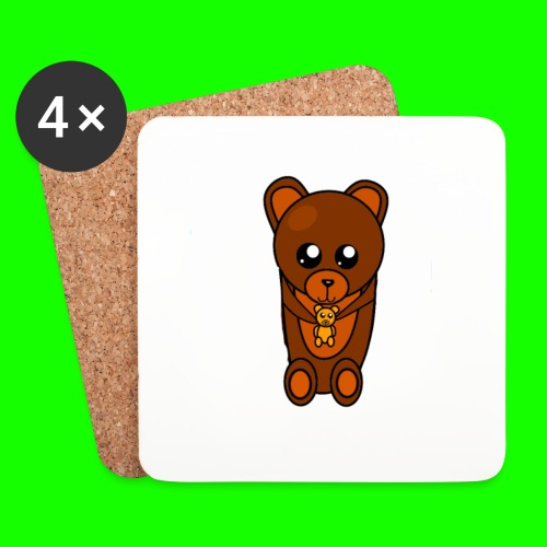 Bearteddy png - Coasters (set of 4)