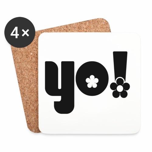 Yo power √ - Glasbrikker (sæt med 4 stk.)