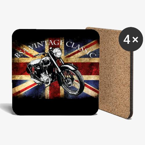 Vintage Motor cycle BSA design by patjila - Coasters (set of 4)