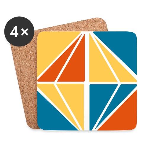 Graphic vierkant diamant - Onderzetters (4 stuks)