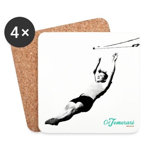 trapezista_AmbEfecte - Posavasos (juego de 4)