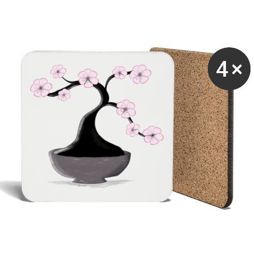 Kirschblueten Bonsai - Untersetzer (4er-Set)