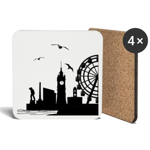 Silhouette of Margate - Coasters (set of 4)