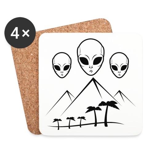Pyramides & Extraterrestres - Dessous de verre (lot de 4)