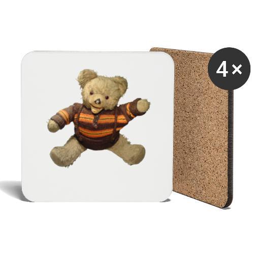 Teddybär - orange braun - Retro Vintage - Bär - Untersetzer (4er-Set)
