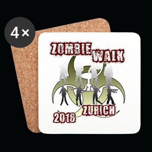 shirt zombie walk1 - Untersetzer (4er-Set)