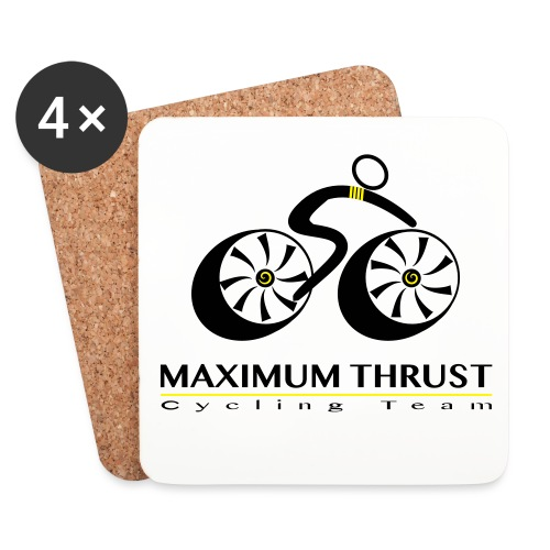 MTCT Logo with Lettering Black - Coasters (set of 4)
